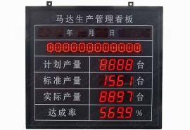 生产车间管理看板点阵数码管混合屏拉线实时信息目视智能屏支持多种计数看板