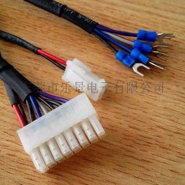 MX5569-12P TO MX5557-2P+叉接地端子*7+尼龍網管 電子連接線