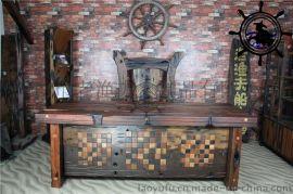 鹤岗船木家具厂家直销船木办公台船木办公椅榫卯结构环保清漆