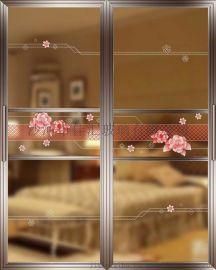 佳汇艺术玻璃隔断门5D玻璃移门阳台推拉门