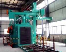 H型钢通过式自动清理抛丸机 大型钢材除锈抛丸清理机