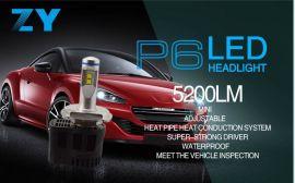 H4汽车灯led灯泡超亮车灯45W改装超亮灯泡 前照大灯