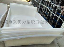 低价直销:防腐蚀塑料漂染周转桶,滚塑成型染纱周转桶,全新耐用方形布车桶,抗老化印染周转箱