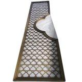 鋁銅雕刻屏風加工 會所酒店大堂鏤空鍍金隔斷屏風 玄關風水