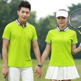 供应修身新款短袖韩式高尔夫t恤翻领Polo衫大码男女工作服