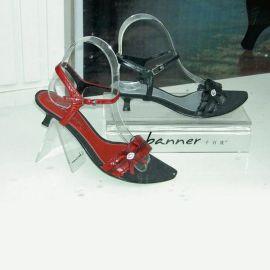 批发定做透明凉鞋鞋撑 **弹力鞋店专用有机玻璃亚克力鞋掌