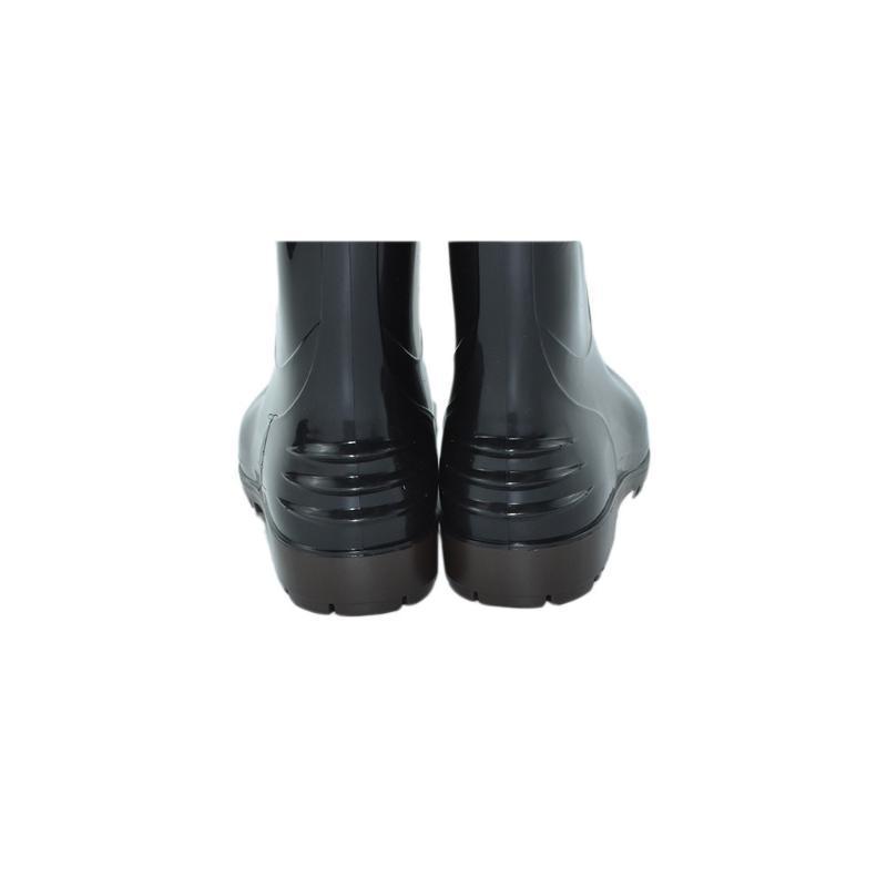 厨房纯色耐磨防水防滑中筒雨鞋 厂家直销男士劳保鞋pvc工作雨靴