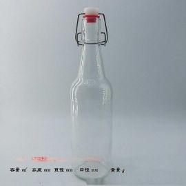 500ml乐扣玻璃瓶,酵素玻璃瓶高白料玻璃制品