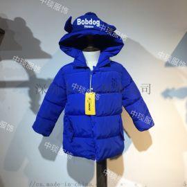 18新款品牌冬季儿童巴布豆棉衣尾货走份