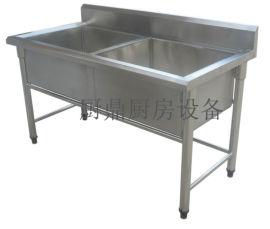 厨房304不锈钢双眼水池
