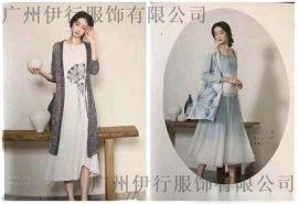亚麻女装系列春夏专柜库存谷度广州品牌折扣货源供应商