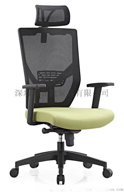 广东办公椅-职员办公椅-弓形网布办公椅