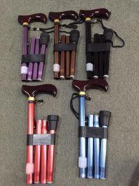 光特LED照明智能老人折叠拐杖助行器