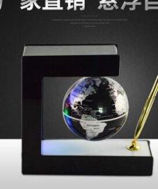 深圳磁悬浮E形地球仪带笔 家居创意摆件 生日圣诞礼物礼品