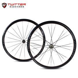 R6.0公路自行车轮组新品 120响700C铝合金四培林破风公路轮组