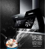 批發抽油煙機 側吸式大吸力全封雙電機自動清洗歐式吸油煙機