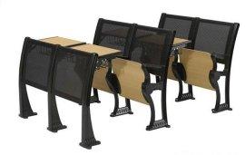 铝合金课桌椅生产厂家,带写字板课桌椅