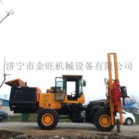 公路护栏打桩机液压植桩机高效压桩机