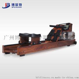 商用健身房水阻划船器 有氧設備專業木質划船機健身划艇器材工廠批發