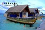 厂家现货供应8米马尔代夫水上旅馆船屋画舫游船 景区餐饮住宿
