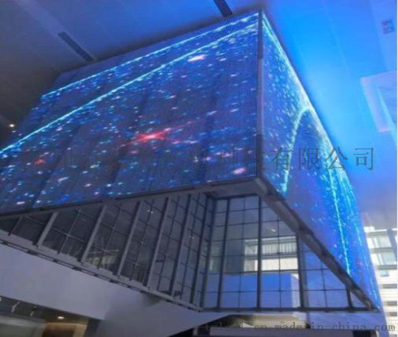 超轻超透led透明屏 P16透明LED幕墙显示屏