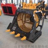 8-45吨级钩机圆形筛分笼 筛分斗厂家