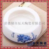 歐式復古陶瓷菸灰缸訂做 手繪青花菸灰缸廠家