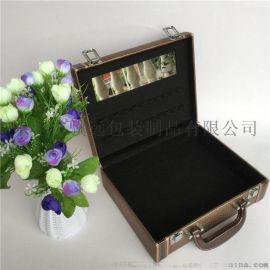 手提化妆品收纳盒彩妆皮盒皮质化妆箱