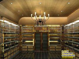 定制不鏽鋼恆溫酒架酒櫃 別墅酒吧高端定制紅酒架