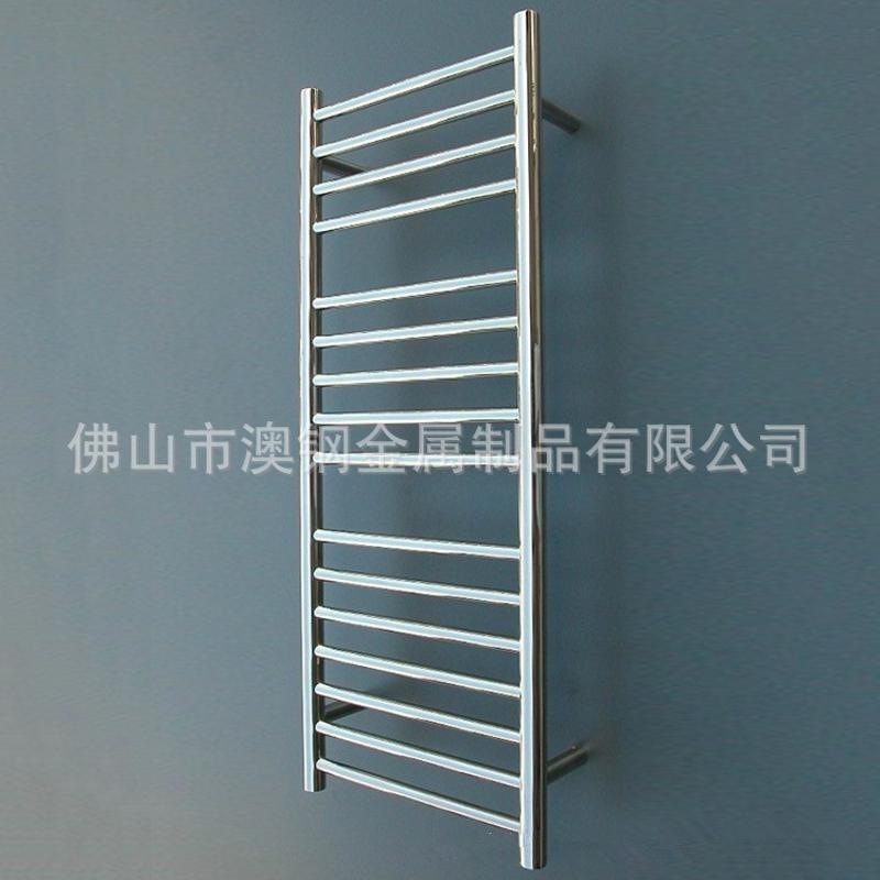 16杆圓管不鏽鋼電熱毛巾架,304不鏽鋼浴巾架