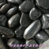 黑色卵石多少錢一噸 山西太原30-50毫米黑色卵石