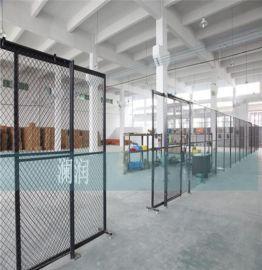 山西车间隔离网 黄色框架铁丝网 防腐防锈 支持定做