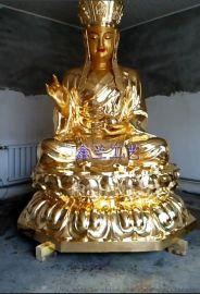 铜雕地藏菩萨站立图片-鑫兰雕塑大型铜香炉铜香炉厂家