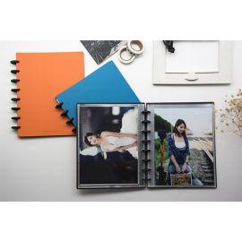 8寸相册20页活页相册创意碟片式装订相册本