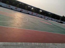 青岛弹性丙烯酸篮球场塑胶网球场