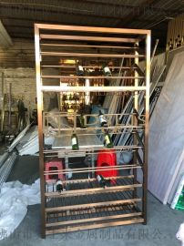 304不鏽鋼酒架定制上海紅酒櫃酒架設計定制