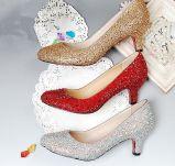 提供鞋样图片加工定制外贸时装高跟鞋