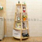 木製角落架、書架、置物架、植物架