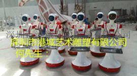现货销售餐厅玻璃钢机器人雕塑外壳生产厂家
