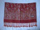 提花仿羊絨圍巾(披肩)-1