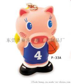 P-33搪胶篮球员,伸缩笔,匙扣, 圆珠笔,广告笔