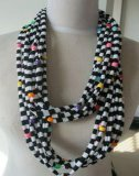 汗布挂珠围巾