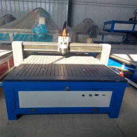 三工序木工数控雕刻机 混合动力方轨木材开料机 气动换刀
