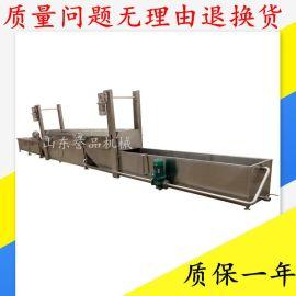PLC控制变频调速蒸煮鸡肉丸子加工流水线 肉丸机加工机器按需定制