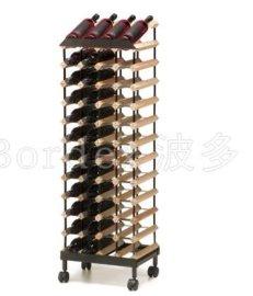 波多48瓶直立移动式展示架