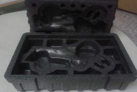 黑色eps. 黑色泡沫包装