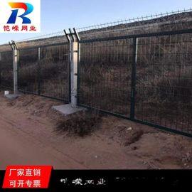 杭州公路两侧隔离护栏网 绿色低碳钢丝框架护栏网