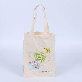 厂家定做本色帆布袋卡通logo定做绿色环保袋热转印棉布袋