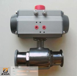 Q681F快装气动球阀,气动直通球阀,不锈钢卫生级气动球阀