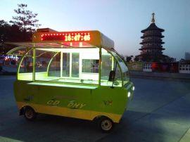 灯笼电动餐车售货车房车多功能小吃车商用美食车铁壳四轮 8500元